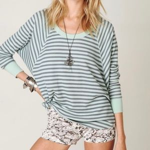 We the Free Mint Love Bug Stripe Thermal